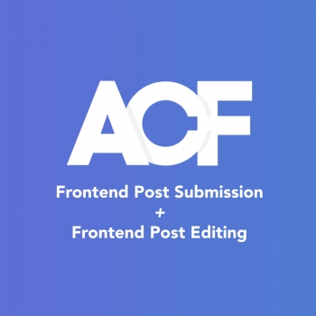 Frontend Post Submission & Edit with Advanced Custom Fields