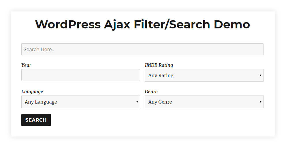 Simple Ajax Filter Search For Wordpress Itsmereal